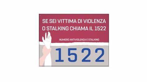 Numero verde di pubblica utilità per il sostegno alle vittime di violenza e di stalking: 1522